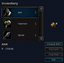 Inventory dialog screenshot