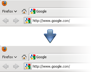 Firefox 4.0.1 toolbar comparison
