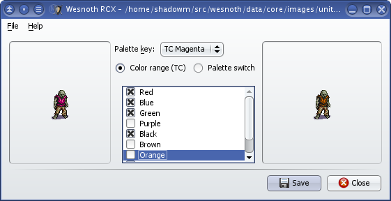 Wesnoth RCX screenshot